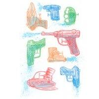 Watercolor Waterguns - small view