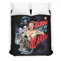 Aliens Gave My Cat a Beard! - duvet-cover - small view