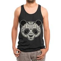 Day of the Dead Panda - mens-triblend-tank - small view
