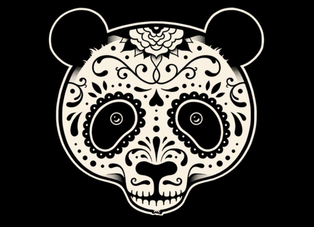 Day Of The Dead Panda By Jason Bergsieker And Enkel Dika Womens