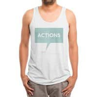 Louder Than Words - mens-triblend-tank - small view