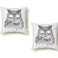 Owltical Illusion - throw-pillow - small view