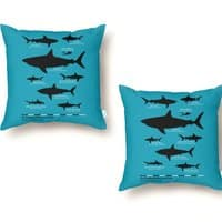 The Deadliest Sharks of All Time - throw-pillow - small view