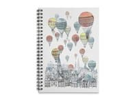 Voyages Over Edinburgh - spiral-notebook - small view