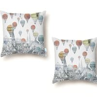Voyages Over Edinburgh - throw-pillow - small view
