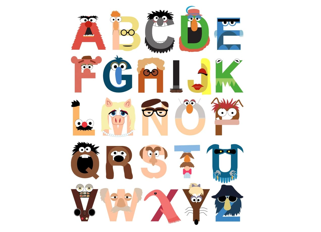 Muppet Alphabet By Mike Boon Threadless