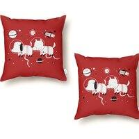 Astro Dogs - throw-pillow - small view