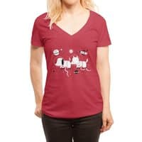 Astro Dogs - womens-deep-v-neck - small view