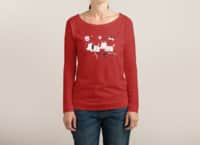 Astro Dogs - womens-long-sleeve-terry-scoop - small view