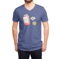 Cookie Loves Milk - vneck - small view
