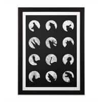 Wolf's Night Off - black-vertical-framed-print - small view