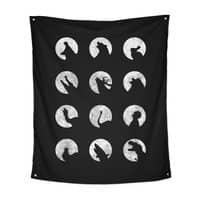 Wolf's Night Off - indoor-wall-tapestry-vertical - small view