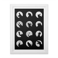 Wolf's Night Off - white-vertical-framed-print - small view