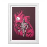 Heart Seeker - white-vertical-framed-print - small view