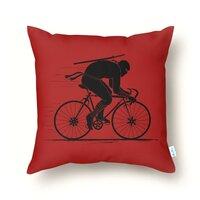 Ninja Rider - throw-pillow - small view