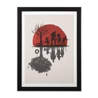 A Family Once - black-vertical-framed-print - small view