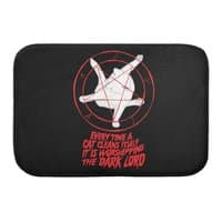 EVERY TIME A CAT CLEANS ITSELF IT IS WORSHIPPING THE DARK LORD - bath-mat - small view
