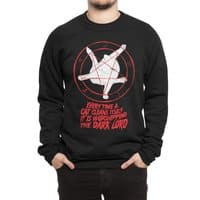 EVERY TIME A CAT CLEANS ITSELF IT IS WORSHIPPING THE DARK LORD - crew-sweatshirt - small view