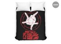 EVERY TIME A CAT CLEANS ITSELF IT IS WORSHIPPING THE DARK LORD - duvet-cover - small view