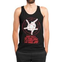 EVERY TIME A CAT CLEANS ITSELF IT IS WORSHIPPING THE DARK LORD - mens-jersey-tank - small view
