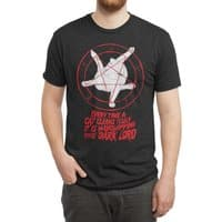 EVERY TIME A CAT CLEANS ITSELF IT IS WORSHIPPING THE DARK LORD - mens-triblend-tee - small view