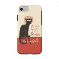 A French Ninja Cat! - double-duty-phone-case - small view