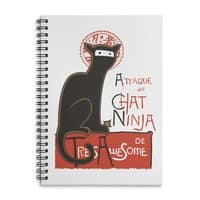 A French Ninja Cat! - spiral-notebook - small view