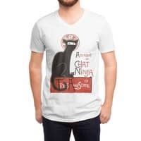 A French Ninja Cat! - vneck - small view