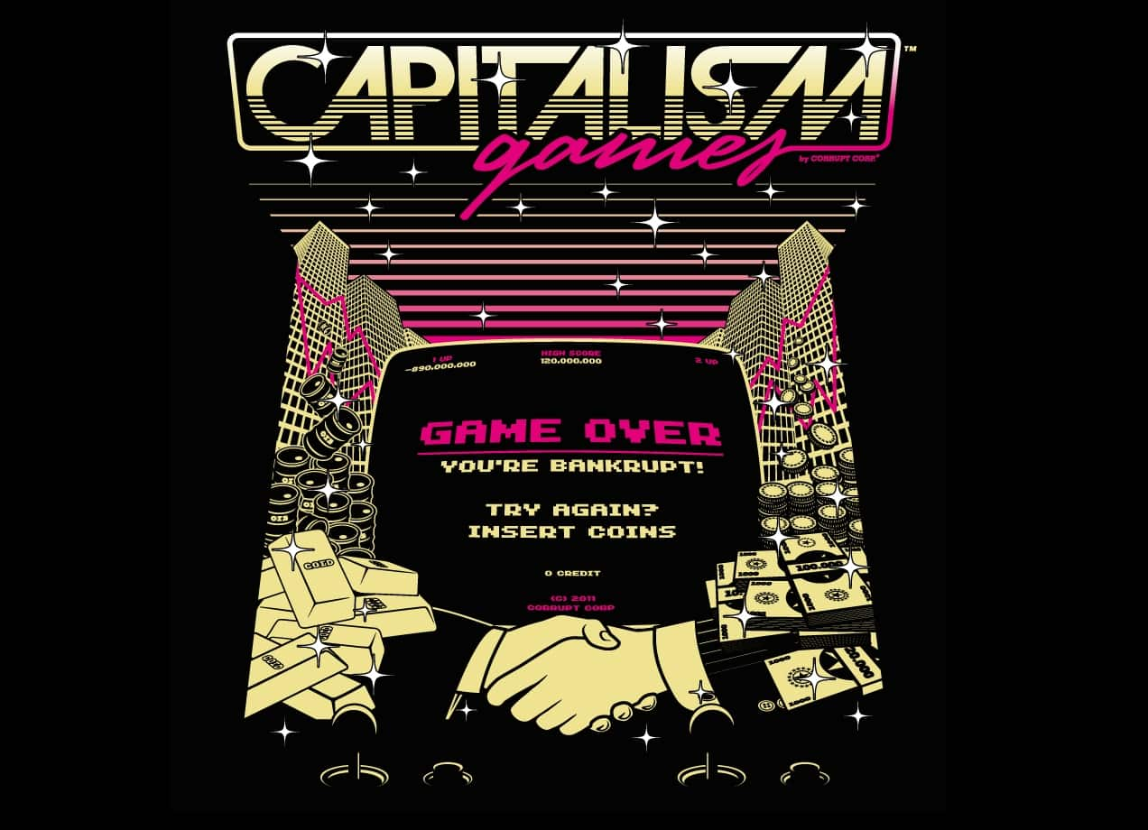 Capitalism games by manos lakoutsis threadless for Best place to sell your art online