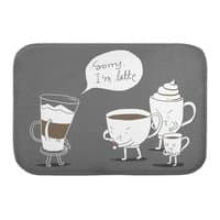 Coffee That's Always Late - bath-mat - small view