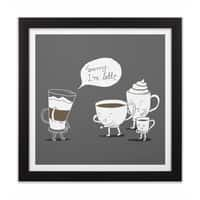 Coffee That's Always Late - black-square-framed-print - small view
