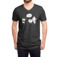 Coffee That's Always Late - vneck - small view