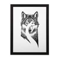 Beauty or Beast - black-vertical-framed-print - small view