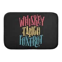 Whiskey Tango Foxtrot - bath-mat - small view