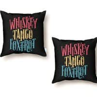 Whiskey Tango Foxtrot - throw-pillow - small view