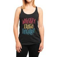Whiskey Tango Foxtrot - womens-triblend-racerback-tank - small view