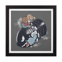 Love the Bomb - black-square-framed-print - small view