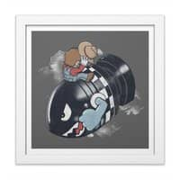 Love the Bomb - white-square-framed-print - small view