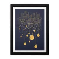 The Hanging City - black-vertical-framed-print - small view