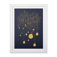 The Hanging City - white-vertical-framed-print - small view
