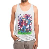Tree and Birds - mens-triblend-tank - small view