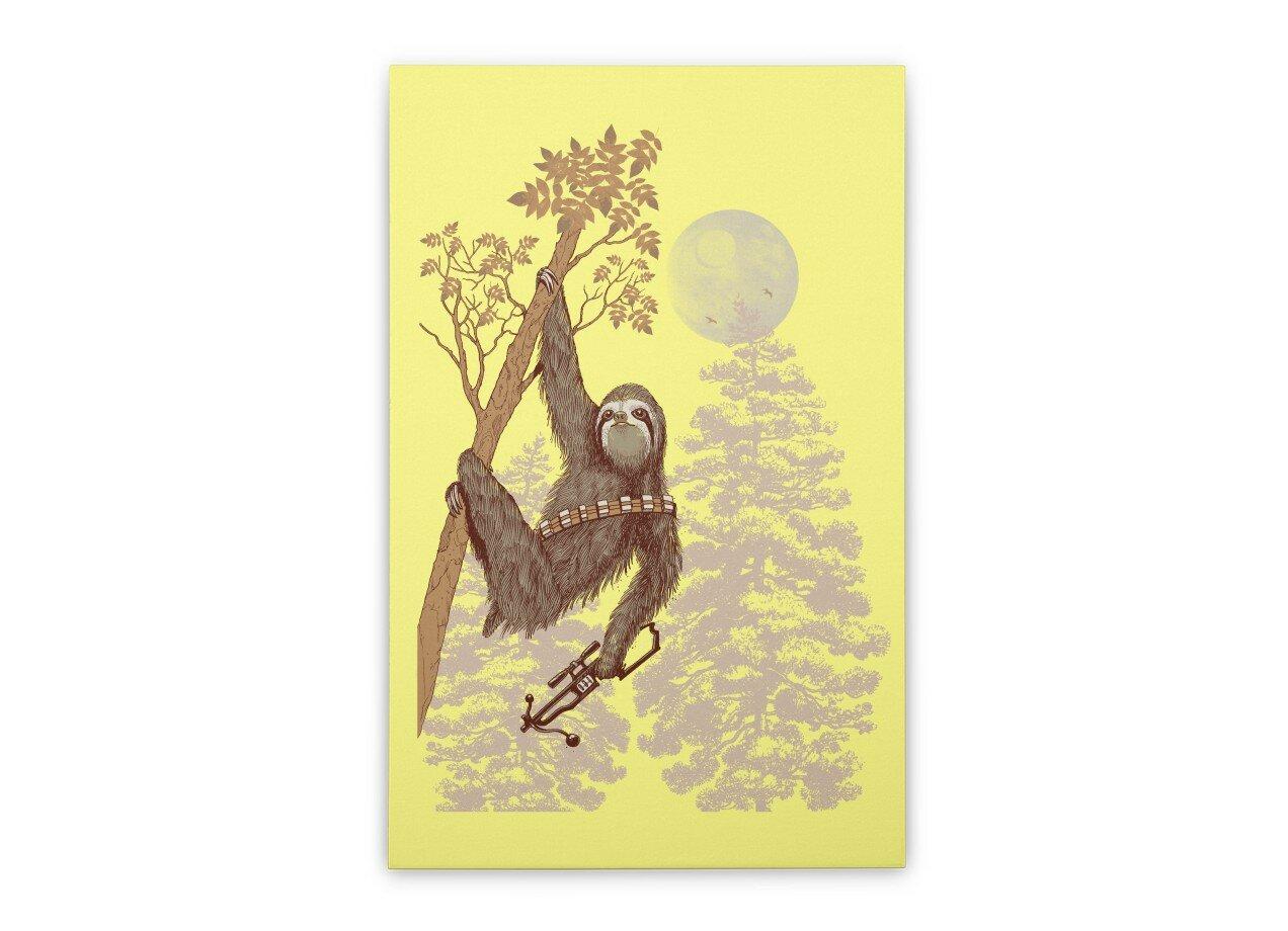 Sloth Wars by Nana Dalla Porta | Vertical Stretched Canvas Threadless