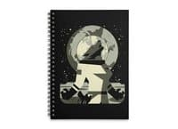 Werewolf in the Moon - spiral-notebook - small view