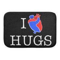 I Love Hugs - bath-mat - small view
