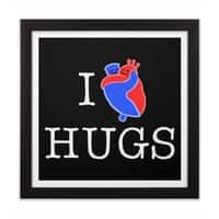I Love Hugs - black-square-framed-print - small view