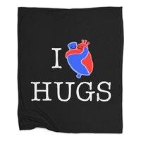 I Love Hugs - blanket - small view