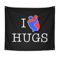 I Love Hugs - indoor-wall-tapestry - small view