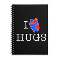 I Love Hugs - spiral-notebook - small view
