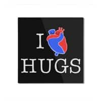 I Love Hugs - square-mounted-aluminum-print - small view