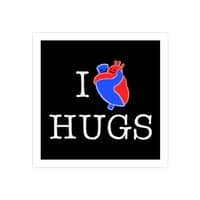 I Love Hugs - square-print - small view